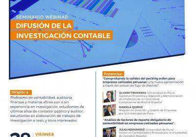 Seminario Internacional de Difusión de la Investigación Contable CAPIC- Universidad de Piura